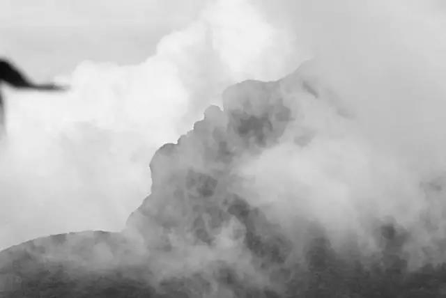 黑白梵净山,水墨晕染到极致